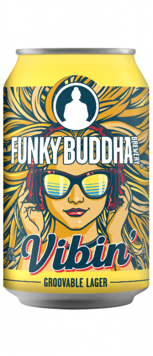 Vibin' Lager by Funky Buddha Brewery in Florida, United States