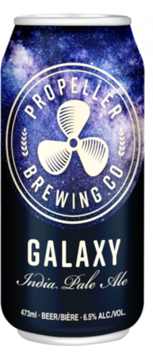 Galaxy IPA by Propeller Brewing Company in Nova Scotia, Canada