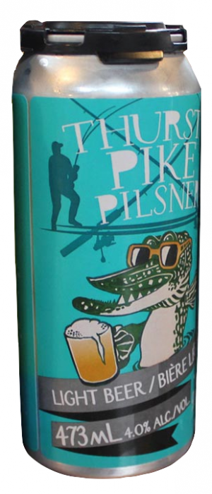 Thursty Pike Pilsner by Gananoque Brewing Company in Ontario, Canada