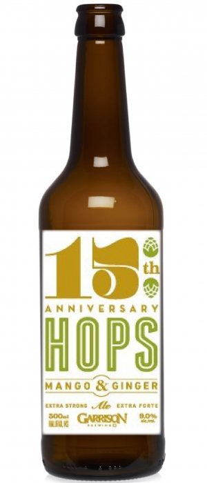 15th Anniversary Hops, Mango & Ginger Ale by Garrison Brewing Company in Nova Scotia, Canada