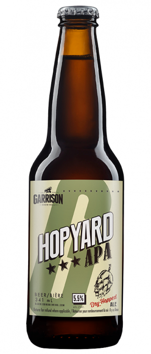 Hopyard APA by Garrison Brewing Company in Nova Scotia, Canada