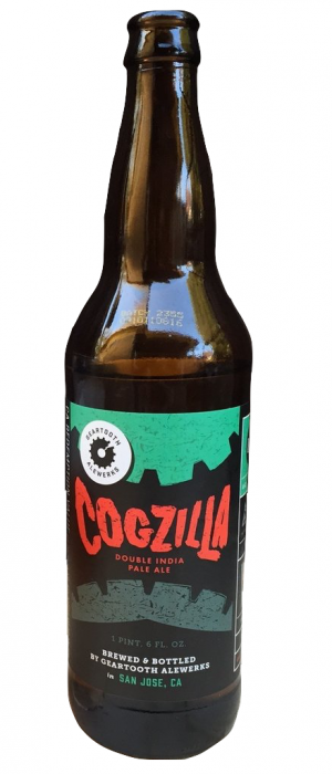 Cogzilla Double IPA by GearTooth AleWerks in California, United States