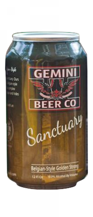 Sanctuary Golden Strong Ale by Gemini Beer Company in Colorado, United States