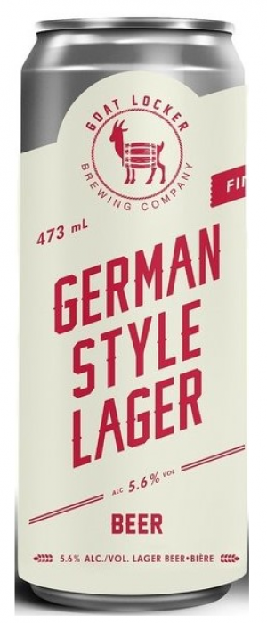 German Style Lager by Goat Locker Brewing Company in Alberta, Canada