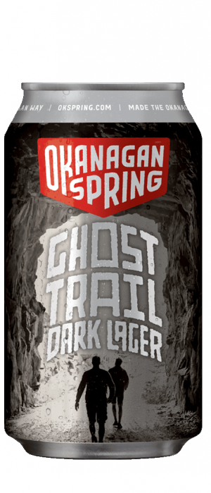 Ghost Trail Dark Lager by Okanagan Spring Brewery in British Columbia, Canada