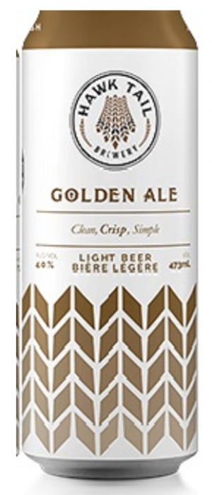 Golden Ale by Hawk Tail Brewery in Alberta, Canada