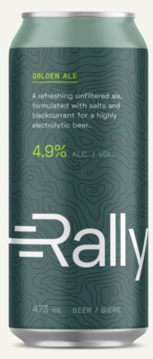 Golden Ale by Rally Beer Company in Ontario, Canada