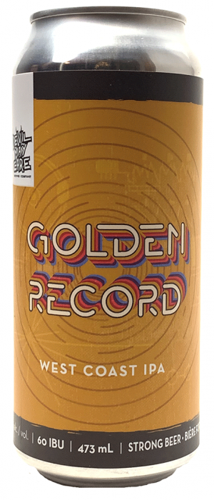 Golden Record West Coast IPA by Devil May Care Brewing Company in Manitoba, Canada