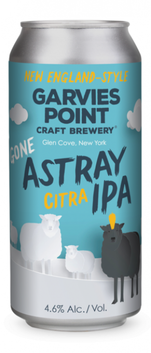 Gone Astray Citra IPA by Garvies Point Brewery in New York, United States