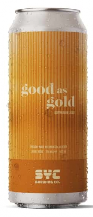 Good as Gold by SYC Brewing Co. in Alberta, Canada