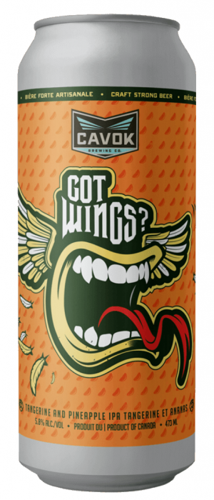 Got Wings? by Cavok Brewing Co. in New Brunswick, Canada