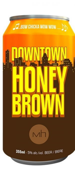 Downtown Honey Brown by GP Brewing Co. in Alberta, Canada
