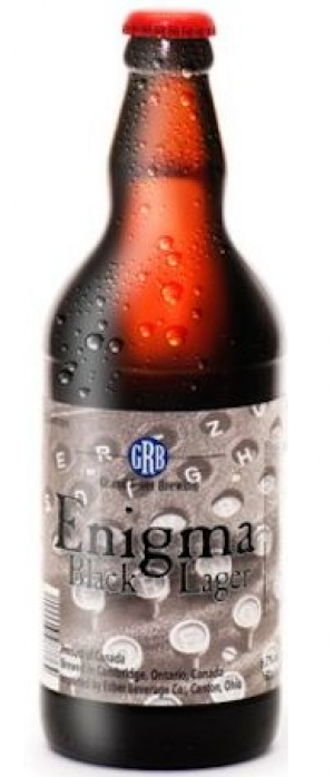Enigma Black Lager by Grand River Brewing in Ontario, Canada