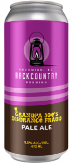 Grandpa Joe's Insurance Fraud by Backcountry Brewing in British Columbia, Canada