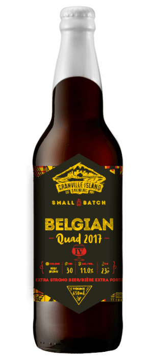 Belgian Quad by Granville Island Brewing in British Columbia, Canada