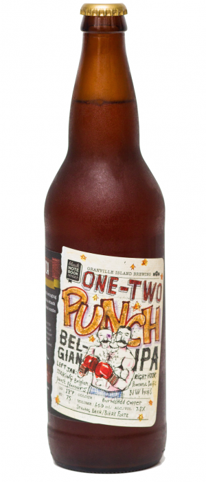 One Two Punch Belgian IPA by Granville Island Brewing in British Columbia, Canada