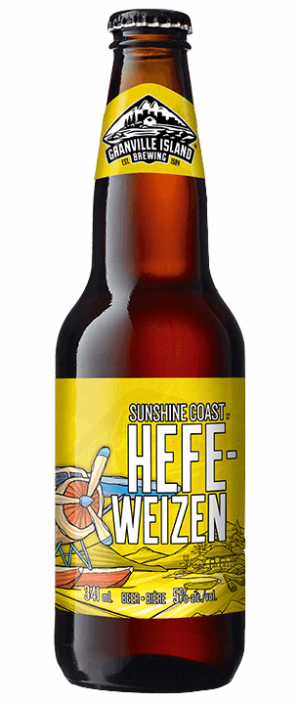 Sunshine Coast Hefeweizen by Granville Island Brewing in British Columbia, Canada