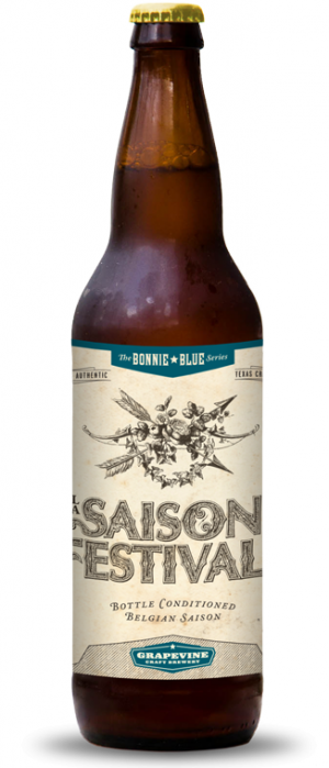 La Saison De Festivals by Grapevine Craft Brewery in Texas, United States