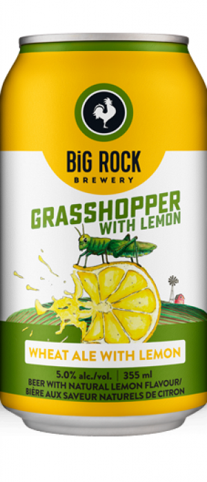 Grasshopper with Lemon by Big Rock Brewery in Alberta, Canada