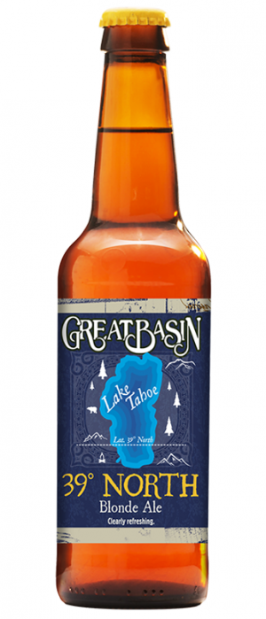 39º North Blonde Ale by Great Basin Brewing Company in Nevada, United States