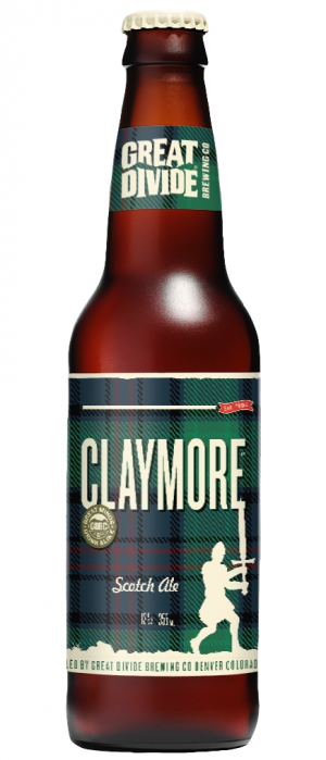 Claymore Scotch Ale by Great Divide Brewing Company in Colorado, United States
