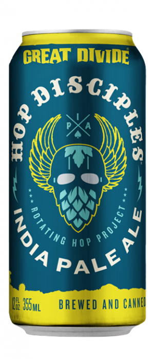 Hop Disciples IPA by Great Divide Brewing Company in Colorado, United States