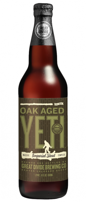 Oak Aged Yeti by Great Divide Brewing Company in Colorado, United States