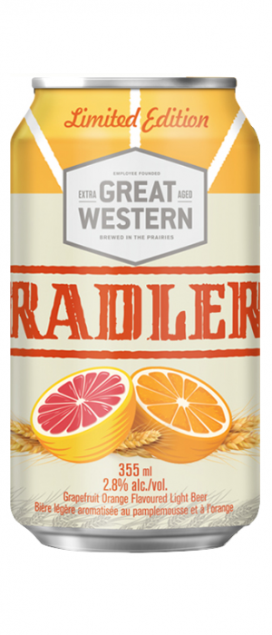 Great Western Radler by Great Western Brewing Company in Saskatchewan, Canada