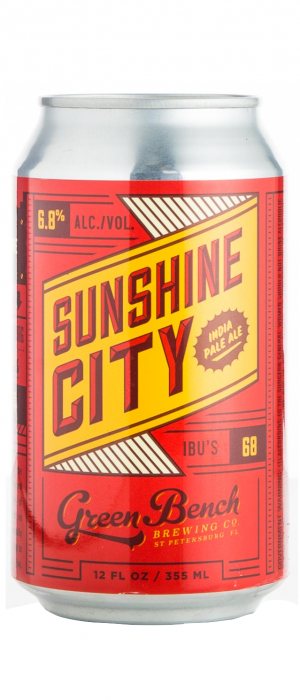 Sunshine City IPA by Green Bench Brewing Company in Florida, United States