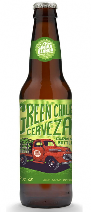 Green Chile Cerveza by Sierra Blanca Brewing Company in New Mexico, United States