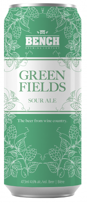 Green Fields Sour Ale by Bench Brewing Company in Ontario, Canada