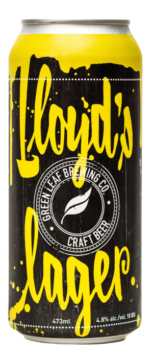 Lloyd's Lager by Green Leaf Brewing Co. in British Columbia, Canada