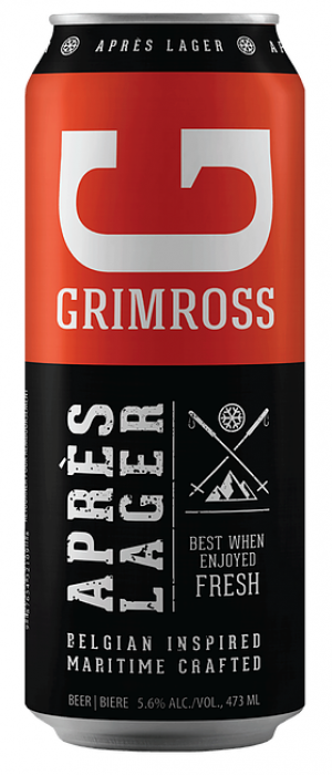 Après Lager by Grimross Brewing in New Brunswick, Canada