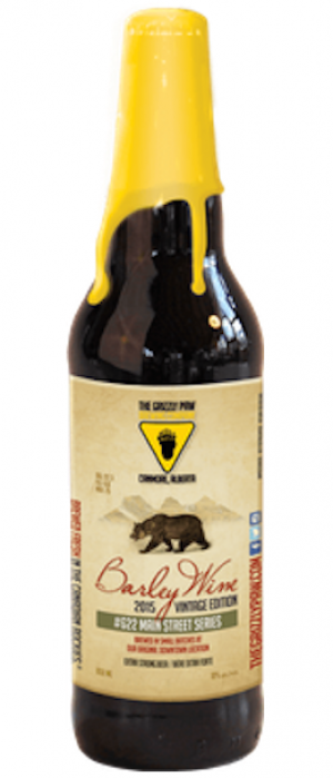 2015 Vintage Barleywine by The Grizzly Paw Brewing Company in Alberta, Canada