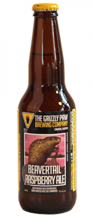 Beaver Tail Raspberry Ale by The Grizzly Paw Brewing Company in Alberta, Canada