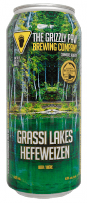 Grassi Lakes Hefeweizen by The Grizzly Paw Brewing Company in Alberta, Canada
