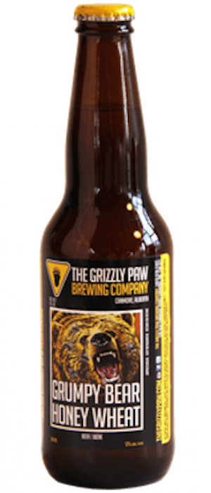 Grumpy Bear Honey Wheat by The Grizzly Paw Brewing Company in Alberta, Canada