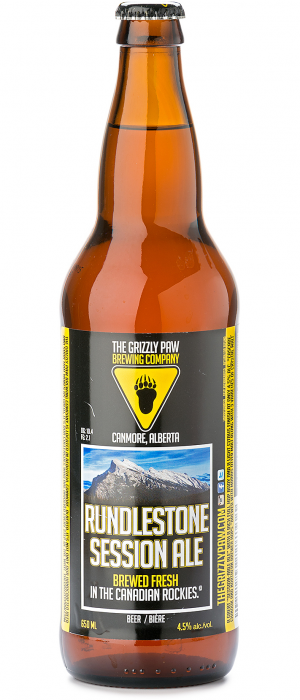 Rundlestone Session Ale by The Grizzly Paw Brewing Company in Alberta, Canada