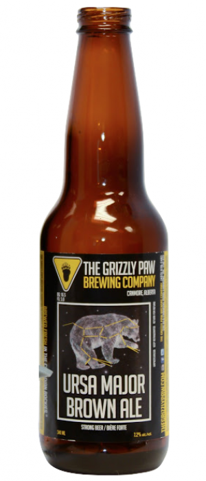 Ursa Major Brown Ale by The Grizzly Paw Brewing Company in Alberta, Canada