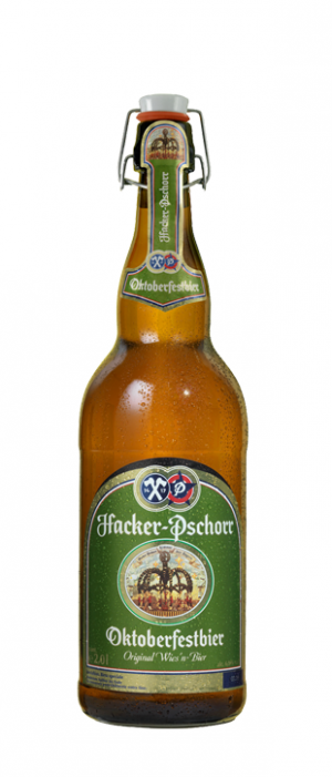Oktoberfestbier by Hacker-Pschorr in Bavaria, Germany