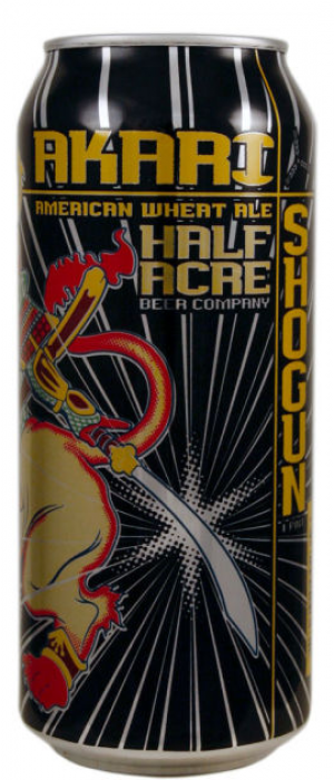 Akari Shogun American Wheat by Half Acre Beer Co. in Illinois, United States