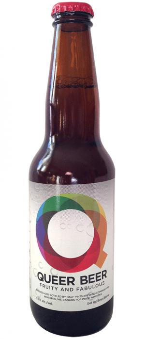 Queer Beer by Half Pints Brewing Co. in Manitoba, Canada