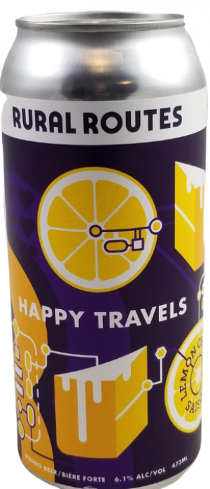 Happy Travels Lemon Chiffon Saison by Rural Routes Brewing Company in Alberta, Canada