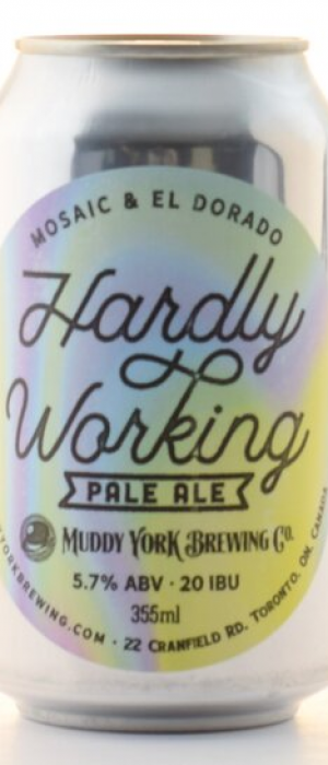 Hardly Working Pale Ale by Muddy York Brewing Co. in Ontario, Canada