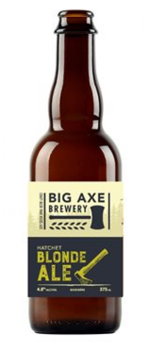 Hatchet Blonde Ale by Big Axe Brewery in New Brunswick, Canada