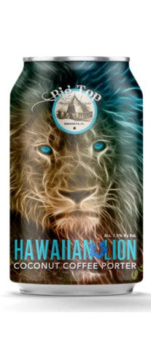 Hawaiian Lion Coconut Coffee Porter by Big Top Brewing Company in Florida, United States