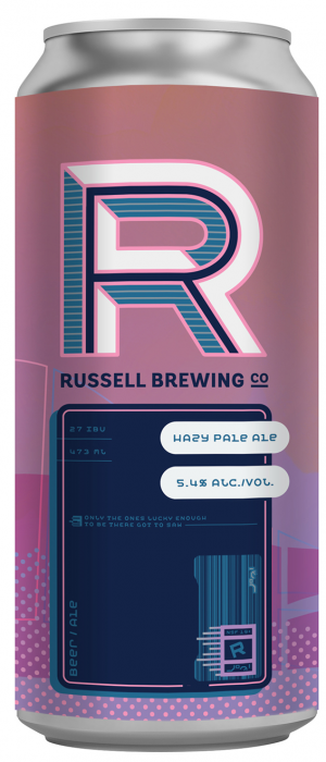 Hazy Pale Ale by Russell Brewing Company in British Columbia, Canada