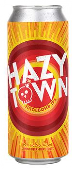 Hazy Town Juicebomb IPA by Amsterdam Brewing Company in Ontario, Canada
