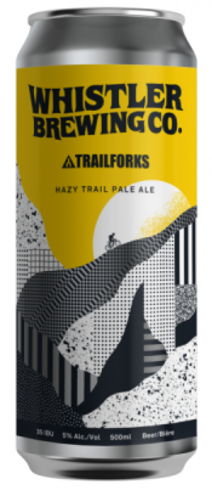 Hazy Trail Pale Ale by Whistler Brewing Company in British Columbia, Canada