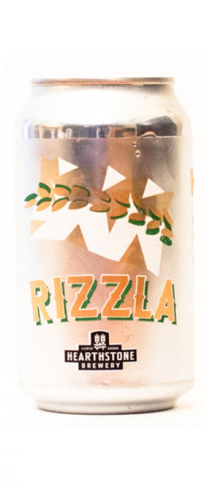 Rizzla Rice Lager by Hearthstone Brewery in British Columbia, Canada